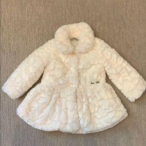 Calvin Klein Cream Cozy Dress Coat size 24m